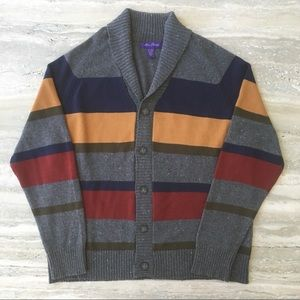 Alan Flusser Men's Stripped Cardigan